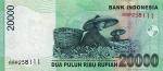 20000 Indonezijos rupijų.