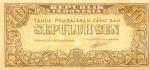 10 Indonezijos rupijos senų.
