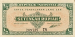 Pusė Indonezijos rupijos.