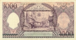 1000 Indonezijos rupijų.