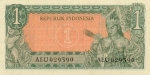 1 Indonezijos rupija.