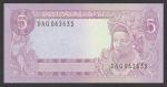 5 Indonezijos rupijos.