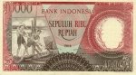 10000 Indonezijos rupijų.
