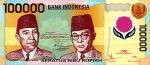 100000 Indonezijos rupijų.