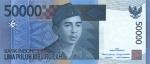 50000 Indonezijos rupijų.