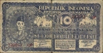 10 Indonezijos rupijų.