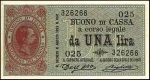 1 Italijos lira.