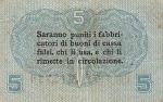 5 Italijos čentesimai.