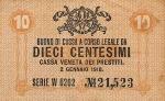 10 Italijos čentesimų.