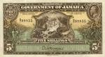 5 Jamaikos šilingai.