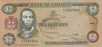 2 Jamaikos doleriai.