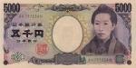 5000 Japonijos jenų.