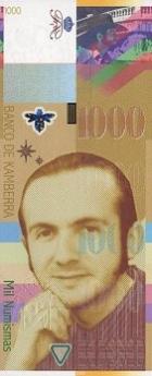 1000 Kamberos numizmų.