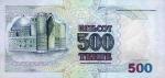 500 Kazachstano tengių.