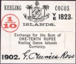 10 Kokoso salų rupijų.