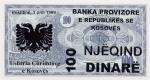100 Kosovo dinarų.
