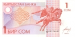 1 Kirgizijos somas.