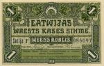 1 Latvijos rublis.