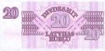 20 Latvijos rublių.