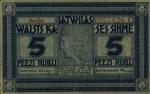 5 Latvijos rubliai.