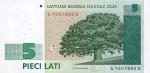 5 Latvijos latai.