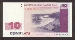 10 Latvijos latų.