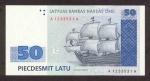 50 Latvijos latų.