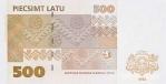 500 Latvijos latų.