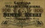 100 Latvijos rublių.