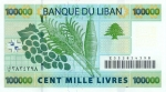 100000 Libano svarų.