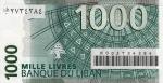 1000 Libano svarų.
