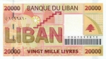 20000 Libano svarų.