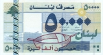 50000 Libano svarų.
