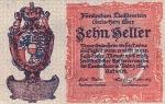10 Lichtenšteino helerių.