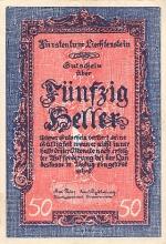 50 Lichtenšteino helerių.