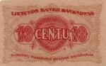 10 Lietuvos centų.