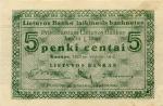 5 Lietuvos centai.