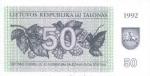 50 Lietuvos talonų.