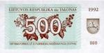 500 Lietuvos talonų.
