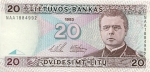 20 Lietuvos litų.