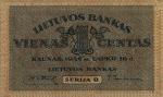 1 Lietuvos centas.