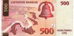 500 Lietuvos litų.