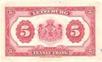 5 Liuksemburgo frankų.