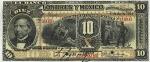 10 Meksikos pesų.