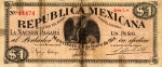 1 Meksikos pesas.
