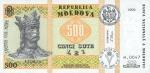 500 Moldovos lėjų.