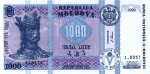 1000 Moldovos lėjų.