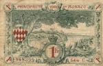 1 Monako frankas.