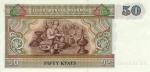 50 Mianmaro kijatų.