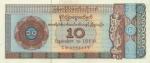 10 Mianmaro dolerių.